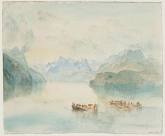 The Bay of Uri on Lake Lucerne, from Brunnen...JMW Turner.