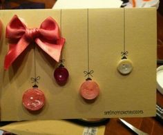 Easy DIY Holiday Crafts - Beautiful Baubles - Click pic for 25 Handmade Christmas Cards Ideas for Kids Christmas Cards To Make, Homemade Christmas, Xmas Cards, Diy Cards, Christmas Time, Simple Christmas, Creative Cards, Christmas Inspiration, Homemade Cards