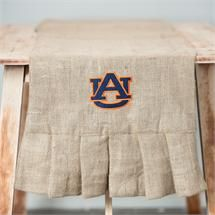 Glory Haus Auburn Burlap Table Runner Officially Licensed auburnloveitshowit.com