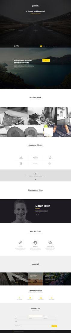 Gawentton - A simple one page portfolio by Paul Flavius Nechita