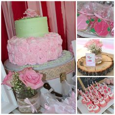 Rose Theme 1st Birthday Party Roses 1stbirthday Girls Pink