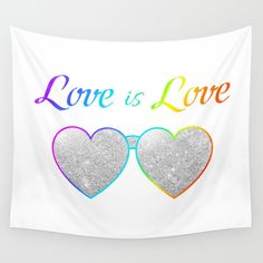 Love is Love!  Shop today and get it before Christmas! #gifts #lastminute #Christmas #giftidea #christmasgifts #christmasgiftideas #pride #pridegifts #pridegiftideas #hearts #walltapastry #rainbow #glitter