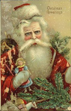 Santa - Gelatin Type Christmas Greetings