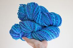 This is a beautifully soft and bouncy superfine Merino bulky weight handspun yarn. Needles Sizes, Knitting Needles, Merino Wool, Lavender, My Etsy Shop, Turquoise, Texture, This Or That Questions, Crafts