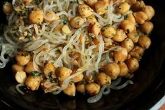 Spicy Chickpeas and Shirataki Noodles | GreenLiteBites