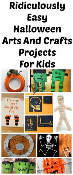 I'm so OVER the complicated arts and crafts projects that are beyond my ability! Here are some really easy but fun Halloween projects you can do with your kids. Great round up. (If I can handle them... so can you)