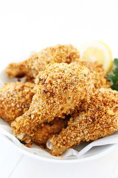 """Buttermilk Oven """"Fried"""" Chicken-this lighter version of fried chicken tastes just like the real..."""