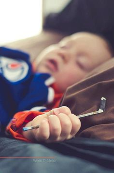 asleep and clutching a tiny hockey stick.and in an oilers jersey! Hockey Room, Nhl News, Edmonton Oilers, National Hockey League, Montreal Canadiens, Detroit Red Wings, Hockey Players, Ice Hockey, Cool Baby Stuff
