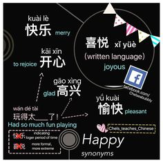 Chinese Synonyms for the word 'happy'. ------------------------------------------------------------------------------------------------------------Subscribe❗️ facebook: Facebook.com/chelseabubbly  youtube:YouTube.com/c/Chelseabubbly  ______________________________________________________  #chelseabubbly #汉语学习 #chineselanguage #hanyu #chinesevocab #汉语  #putonghua #普通话 #中文 #学中文 #learnchinese #学习汉语 #語言 #studychinese #studychineselanguage #hsk #fluentinchinese #studyingchinese #learningchinese…