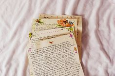 What if we took the time to hand write a letter to someone special and on the plain paper we water colored little pieces of art...reminds me of Beatrix Potter