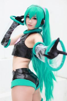 Hatsune Miku (Vocaloid) ( Nice hair,cute girl. thought you'd like this... I dont like the outfit though.)