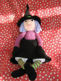 Alan Dart hand knitted witch perfect halloween decoration