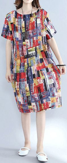 top-quality-multi-color-pure-cotton-dresses-oversize-shirt-dress-top-quality-slim-fit-o-neck-cotton-dresses