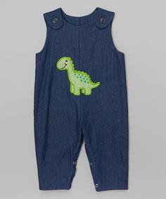 Another great find on #zulily! Denim Dino Overalls - Infant & Toddler #zulilyfinds