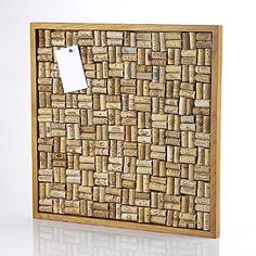 Buy the Large Wine Cork Board Kit at Wine Enthusiast – we are your ultimate destination for wine storage, wine accessories, gifts and more! Wine Cork Wreath, Wine Cork Ornaments, Wine Cork Art, Wine Cork Crafts, Wine Bottle Crafts, Wine Corks, Wine Cork Boards, Wine Cork Table, Diy Cork Board
