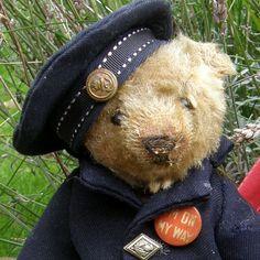 Walter Gorgeous Antique Steiff Teddy Bear c1906 in Old Suit Hat | eBay