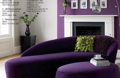40 Ideas For Living Room Wallpaper Accent Wall Lounges Gray All Things Purple, Purple Stuff, Purple Furniture, Purple Bedrooms, Purple Interior, Purple Home, Purple Reign, Shades Of Purple, Purple Yellow