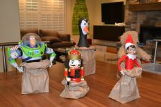 "Elf Sack Race, via Flickr. I am usually creeped out by the whole ""elf on a shelf"" thing but this is cute"