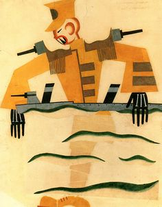 Tatiana Bruni The Japanese Marine. Costume design for The Bolt, 1931. Grad and St Petersburg Museum...