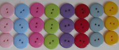 Botão em resina 23mm <br> <br>VALOR REFERENTE AO PACOTE COM 30 UNIDADES DE CORES SORTIDAS