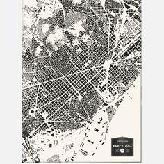 Buildings Of Barcelona Print