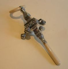 ivory baby rattles - Google Search