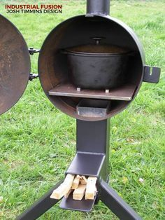 rocket stove and grill ile ilgili görsel sonucu - Salvabrani Outdoor Oven, Outdoor Cooking, Metal Projects, Welding Projects, Rocket Mass Heater, Stove Oven, Stove Heater, Rocket Stoves, Diy Rocket Stove
