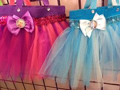 Frozen Themed Party tutu bags 6 bags by Hollywoodprincess2 on Etsy, $55.00