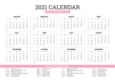 Year 2021 Calendar Blank Calendar, Print Calendar, Calendar Design, 2021 Calendar, Important Dates, Helping Others, Are You The One, Free Printables, Templates