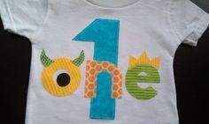 Monster Birthday Shirt First Birthday Boys by PatchesandPuppies, $18.95