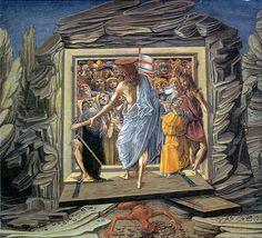 Benvenuto di Giovanni - Storie della Passione: Discesa al Limbo - c. 1491 - tempera su tavola - National Gallery of Art, Washington
