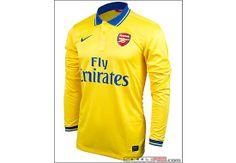 Nike Arsenal Long Sleeve Away Jersey SoccerPro. Arsenal Shirt, Arsenal Jersey, Arsenal Fc, Best Club, Nike Soccer, Soccer Ball, Premier League, Long Sleeve, How To Wear