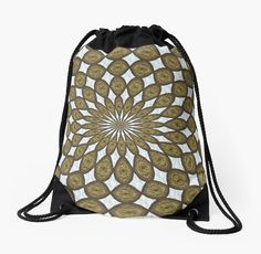 A mandala made of discs with a woodgrain texture on white sand which form diamonds. • Also buy this artwork on bags, apparel, stickers, and more.