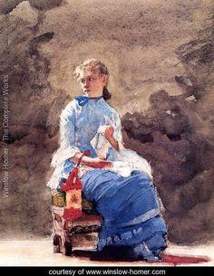 Woman Sewing - Winslow Homer - www.winslow-homer.com