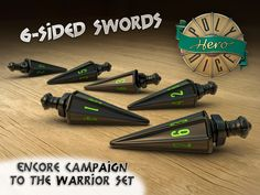 These dice are awesome!  I wish them luck in their Kickstarter!  By backer demand, a quick fire campaign for 6-packs of the 6-sided swords from the Warrior set.