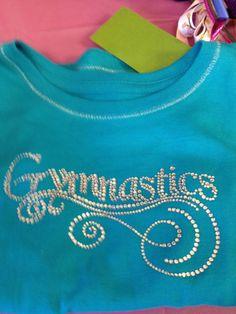 Gymnastics TShirt Rhinestone Bling by Glittertulle on Etsy, $15.00
