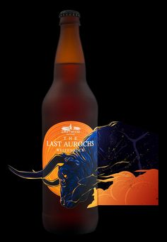 The Last Aurochs For Driftwood Brewery on Packaging of the World - Creative Package Design Gallery Food Packaging Design, Beverage Packaging, Bottle Packaging, Packaging Design Inspiration, Coffee Packaging, Craft Beer Labels, Wine Labels, Brewery Design, Logo