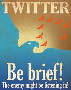 Twitter : soyez concis, l'ennemi pourrait être en train d'écouter !