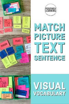 Three Part Cards with picture, text, and sentence. This visual vocabulary bundle features phonics, parts of speech, and more! Display on your word wall, add to small groups, or use with centers. A data tracking page is included for progress monitoring. #threepartcards #visuals #vocabulary