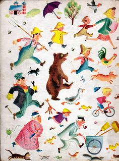The Wonderful Storybook illustrations by J.P. Miller