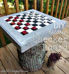patio checker board