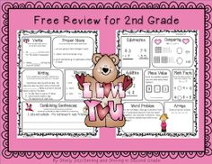 Morning work for second grade--click on preview for FREE sample pages