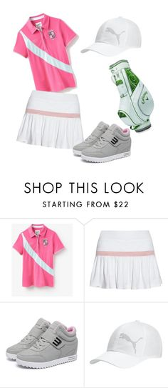 """pinkies womens golf wear"" by mayang-muchtar on Polyvore featuring Joules, L'Etoile Sport, Puma and Callaway"