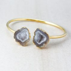 Make a statement with this druzy cave bangle.