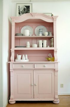 "myidealhome: "" • delicate pink cabinet (via April and May: the home of Ilse) """