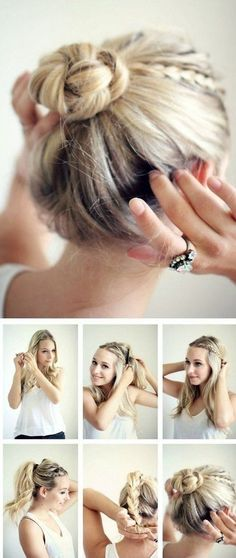 Summer hairdos for long hair – Hair Style Women – Tutoriels Cheveux 5 Minute Hairstyles, No Heat Hairstyles, Hairstyles 2018, Trendy Hairstyles, Medium Hairstyles, Braid Hairstyles, Teenage Hairstyles, Wedding Hairstyles, Evening Hairstyles