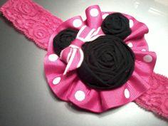 Accesorio diadema de pelo de Minnie Mouse en por RheasBlooms