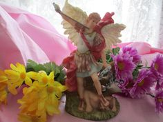Vintage Archangel Michael Statue by AmethystWaysFairies on Etsy