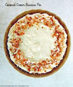 Banana Coconut Cream Pie by Cinnamon Spice and Everything Nice