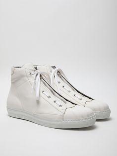 Alexander McQueen Men's Leather High Top Sneaker. All Stars